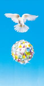 Bruderschaft - Poster Taube mit Kristall
